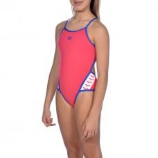 001331 908 - Costume Intero Bambina Team Stripe / FREAK ROSE-NEON BLUE