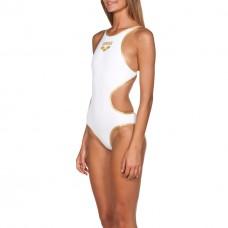 Costume Intero Donna Arena One Biglogo / WHITE-GOLD