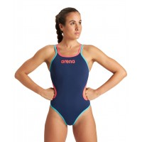 COSTUME INTERO DONNA ARENA ONE DOUBLE CROSS BACK / NAVY-FLUO RED-MARTINICA